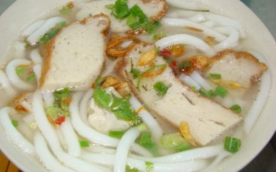 Banh Canh with fish cake